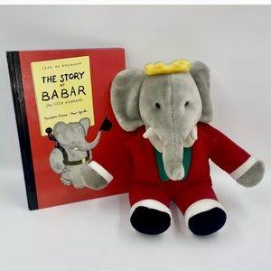 The Story of Babar PLUS Vintage Gund Babar Plush